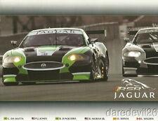 2011 RSR Jaguar XKR GT 12 Hours of Sebring ALMS postcard