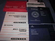2003 TOYOTA 4RUNNER OWNERS MANUAL OWNER'S SET W/ NAVIGATION SR5 LIMITED 4X4