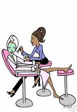 African American Esthetician Salon cards beauty facial