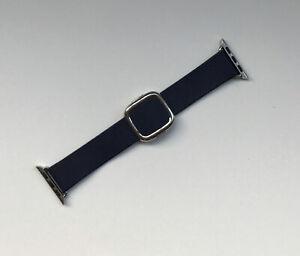 Genuine Apple LEATHER Watch Strap Modern Buckle MIDNIGHT BLUE 38mm /40mm Medium