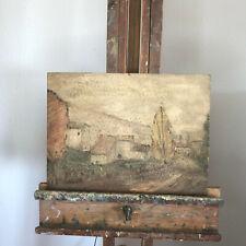 tableau N79 huile sur panneau paysage