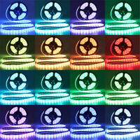 5/10M 5050 RGB 600 LED Light Strip+44keys Remote Controller+12V 2A/5A