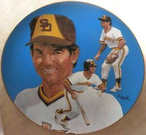 Steve Garvey Autograph Sport Plate Signed Padres Baseball Collector Auto Hackett