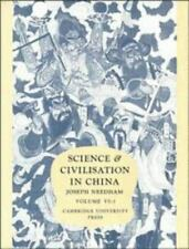 Science and Civilisation in China: Volume 6, Biology and Biological-ExLibrary