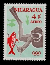 NICARAGUA   SCOTT#  C525    MNH***    UNDERWATER/1964 OLYMPICS TOKYO
