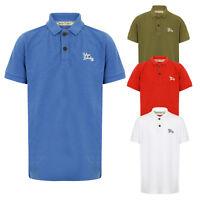 Tokyo Laundry Kids Designer Florenzi Polo T Shirt Casual Pique Button Up Tee