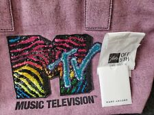 MARC JACOBS bag MTV tote NEW sequin pink see my photo large tote/cert retail+595