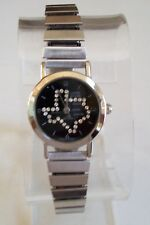 Dressy Look Gold/Silver Finish TEXAS MAP Dial Stretch Band Fashion Women's Watch