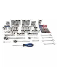 New Kobalt 154 pc Standard SAE/Metric Polished Chrome Mechanics Tool Set