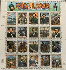 1994 CIVIL WAR 1861-1865 STAMP SHEET OF 20 MNH SCOTT#2975