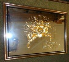 "Rare Vintage 1983 Champagne Jacquart Mirror 17 3/4"" X 23 3/4"" Wood Frame"