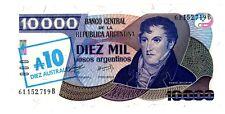 Argentina ... P-322c ... 10 Austral ... ND(1985) ... *UNC*.