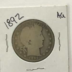 1892 Barber Silver Half Dollar First Year of Issue    E8507