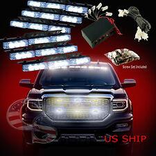 54 LED Car Truck Strobe Emergency Warning Light for Deck Dash Grill White White