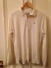 Mens DIesel creme casual Polo Shirt large