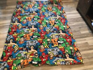 "DC superhero fleece blanket 84"" x 56"" new/handmade"