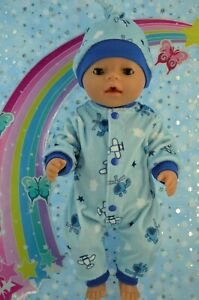 """Play n Wear Boys Dolls Clothes To Fit 17"""" Baby Born PATTERN COVERALL~HAT"""