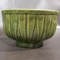 "Mid Century Vintage McCoy USA 518 Avocado Green Round Planter Bowl 5.5"" Beauty!!"