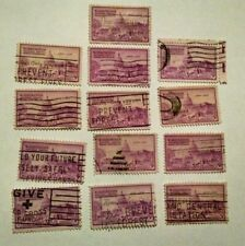 Lot of 3 CENT U.S. Stamps Commemorating Washington DC National Capital Cancelled