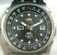 Vintage ORIENT SK Crystal Automatic 21 jewels Japan Men Wrist Watch Rare