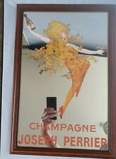 More details for vintage champagne joseph perrier   advertising mirror french lady bar club pub