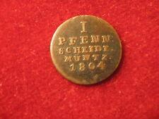 1804, 1 pfennig. G.F.M., F/VF, Brunswick-Luneburg-Calenberg-Hannover. Germany