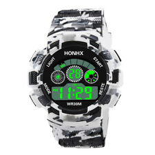 Fashion Mens Digital LED Analog Quartz Alarm Date Sports Outdoor Wrist Watch