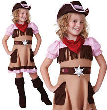Childrens Kids Cowgirl Fancy Dress Costume Girls Outfit Cow Girl Western M