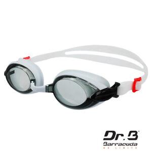Barracuda Dr.B Prescription Swimming Goggles Anti-fog UV Protection #92295 White