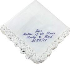 Personalised Handkerchief - Hankie, Mother of the Bride, Bridesmaid, Birthday