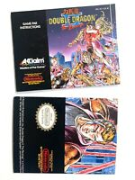 RARE! Double Dragon II The Revenge NINTENDO NES Acclaim Poster +Manual ACL-W2-US