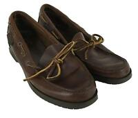 Bass Womens Ladies Brown Leather Slip On Loafers Shoes Size 6.5M