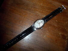 Nice Ladies Black Band QBos Analog OVAL Watch VERY PRETTY
