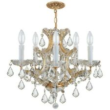 Crystorama Maria Theresa 6 Lt Clr Crystal Gold Mini Chandelier - 4405-GD-CL-MWP