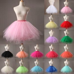 UK Women Adult Lady Tutu Tulle Skirt Fancy Skirt Dress Up Party Dancing Dress K1