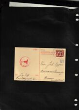 NETHERLANDS  1941 Censored Post Card sent from Zandvoort to Germany