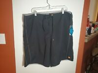 Mens Quicksilver Swim Trunks Board Shorts Waterman Collection size 38 Black NWT