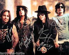 Mötley Crüe 8 x10 Autograph Reprint Nikki Sixx, Mick Mars, Vince Neil, Tommy Lee