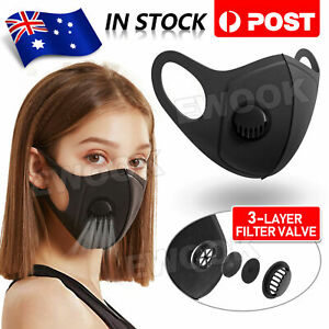 Premium Anti Air Pollution Face Mask Respirator Filters Washable AUS SHIP
