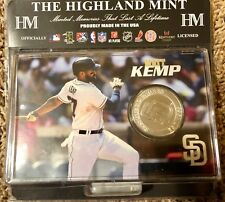 The Highland Mint Matt Kemp 39mm Silver Plated Medallion Coin San Diego Padres