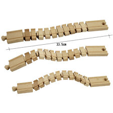 1 Pcs Wooden Deformation Track Railway Accessories Compatible All Major BrandsLW