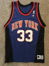 VTG 90s Champion NBA NY New York Knicks #33 Patrick Ewing Jersey Shirt 44 C49