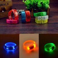 Sound Activated Light Voice Control Glow Wristbands LED Flash Bangle Bracelet