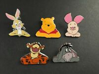 Cast Lanyard Pin Series #3 Eeyore Pooh Piglet Tigger Rabbit 5 Disney Pins 32998