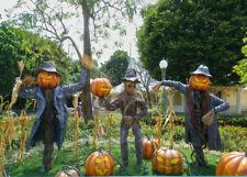 Halloween Garden Horror Pumpkin Scarecrow Backdrop 7x5ft Vinyl Photo Background
