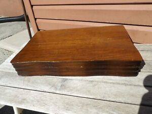 VTG HARMONY HOUSE WOOD SILVERWARE FLATWARE STORAGE BOX CASE