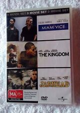 MIAMI VICE/ THE KINGDOM/ JARHEAD (DVD,  3-DISCS) R-4, LIKE NEW, FREE SHIPPING