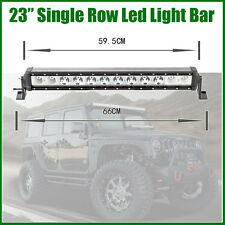 "23"" INCH 120W CREE LED Single Row Work Light Bar Off Road Driving Truck SUV 4WD"