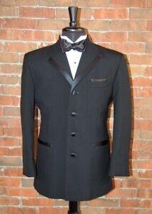 Mens 42 R Oscar De La Renta La Vida IV Black Tuxedo Jacket And Pant