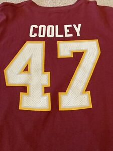 Washington Redskins NFL Chris Cooley #47 Men's Medium Football T-Shirt Burgundy